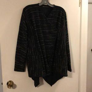 Matthildur black/tan jacket